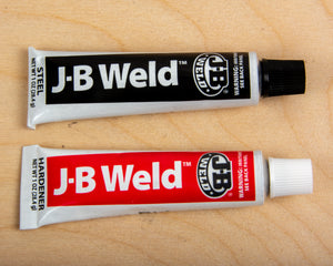 JB Weld retainer, hard point, rail guide