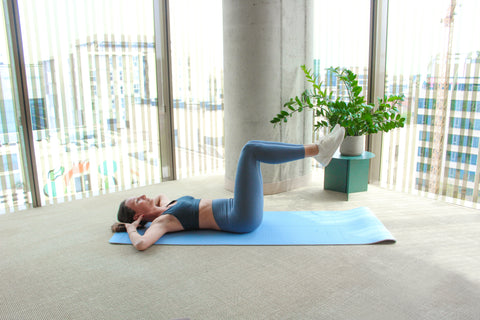 chair sit-up engaged core