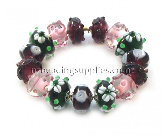 Lampwork - Bead Set - 15 pieces