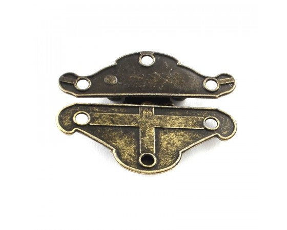 Clasp - Box Lock - 38mm x 49mm - Antique Bronze