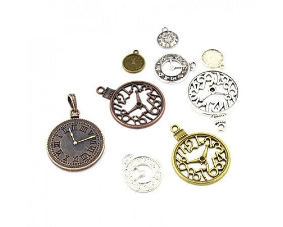 Pendant - Clocks - Mixed - 10 pieces