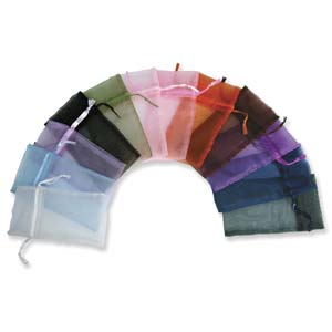 Organza Gift Bag - Solid Colours - 4 pieces