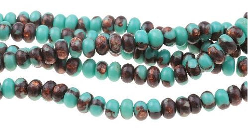 Teal Serpentine and Bronzite