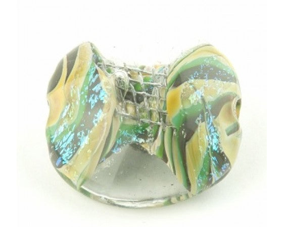 Dichroic - Large Bead - Coin - 1 piece