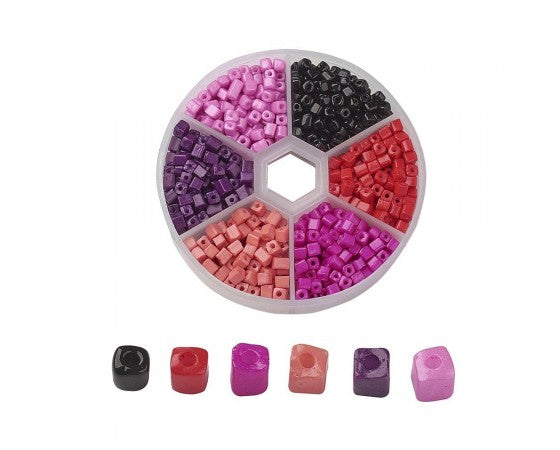 Seed Bead Kit - Cubes - 6/0 (3mm) - Mixed Colours