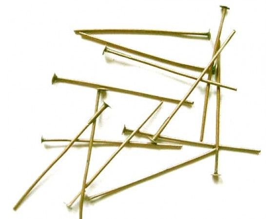 Headpins - 100 grams - Gold - Seconds