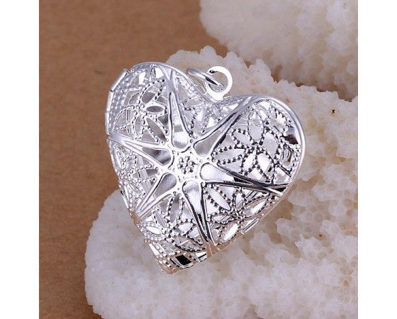 Pendant - Locket - 31mm x 26mm - 1 piece - Silver