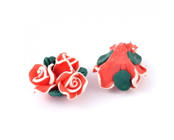 Polymer Clay - Large Flower - 20mm x 14mm - 1 Piece