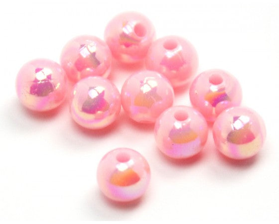 Acrylic - Round - Pearlescent - 6mm - 60 pieces
