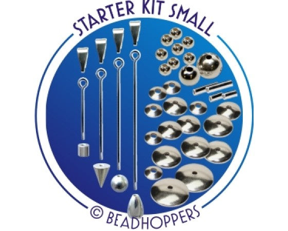 Beadhopper - Interchangeable Pendant - Starter Kit - 42 pieces - Silver