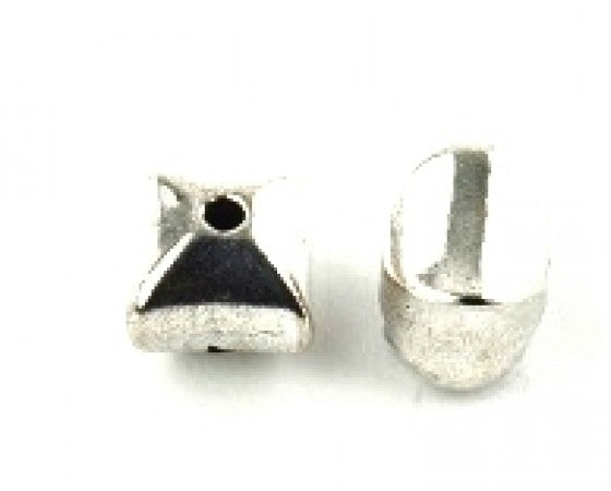Metal - Square - 10mm - 10 pieces - Silver