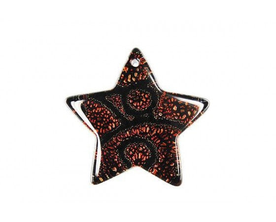 Dichroic - Star - 30mm x 30mm - 1 piece - Copper