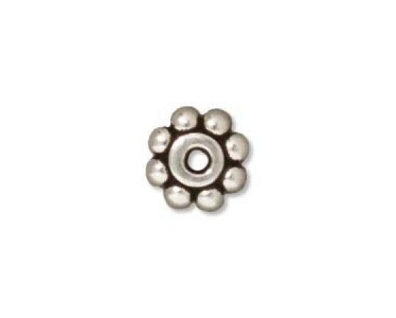 Metal - Disc (Daisy) - Antique Silver