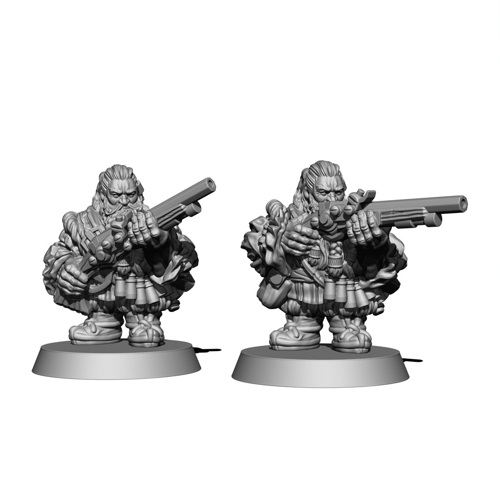 Dwarf Wheel-Lock Carbine - Two Men Set