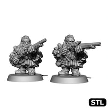 Load image into Gallery viewer, Dwarf Wheel-Lock Carbine - Two Men Set