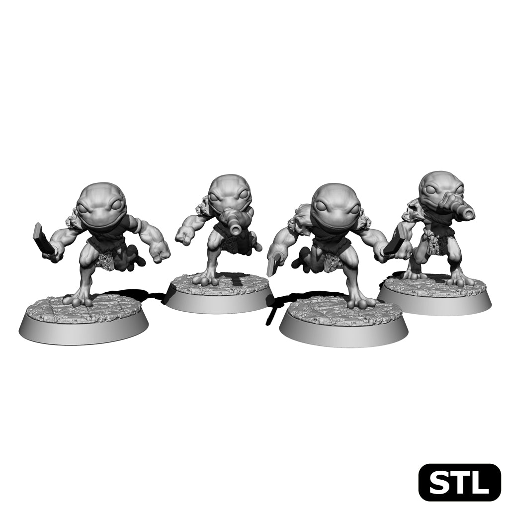 Frog Warriors - Set of 4