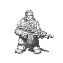 Load image into Gallery viewer, Space Dwarf LMG Gunner 2
