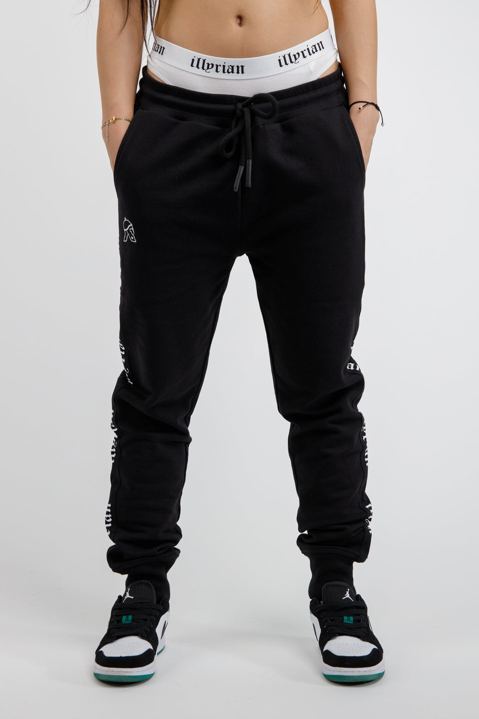 Side Strap Joggers Black