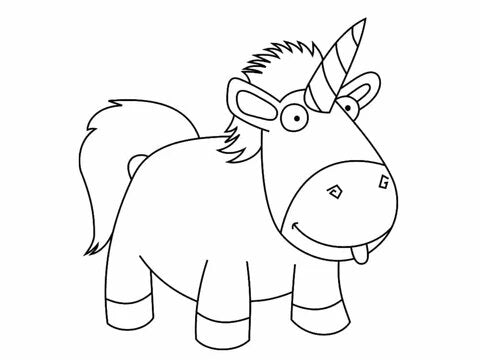 colouring unicorn me ugly and mean