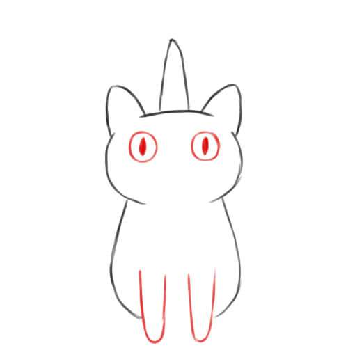 Eyes and Paws of the Unicorn Cat