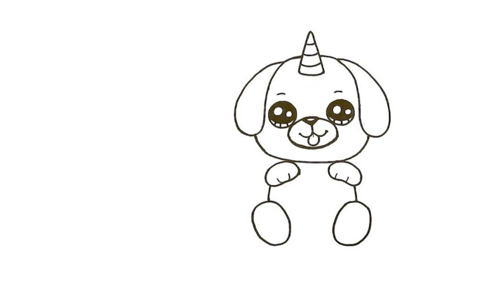 How to Draw a Pugicorn 19