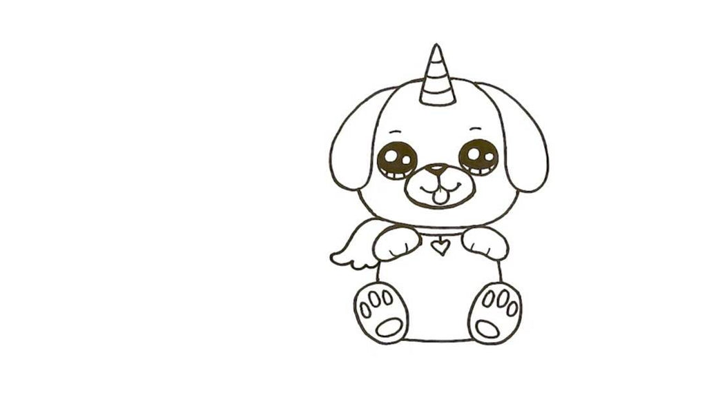 How to Draw a Pugicorn 23
