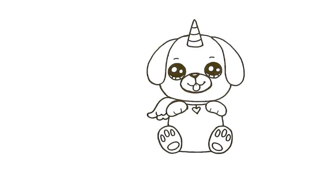 How to Draw a Pugicorn 24