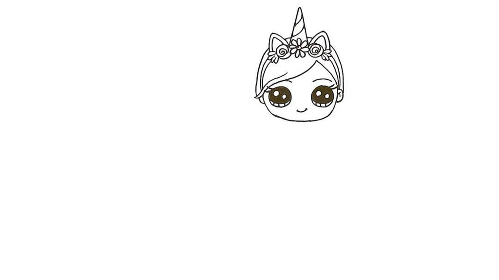 How to Draw a Unicorn Girl 17