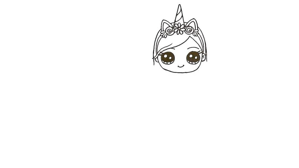 How to Draw a Unicorn Girl 18
