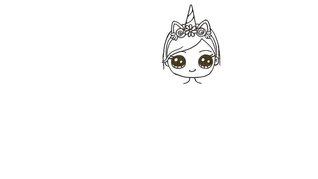 How to Draw a Unicorn Girl 19