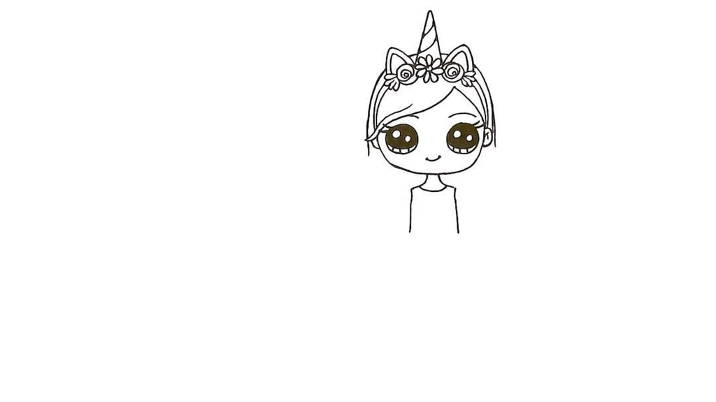 How to Draw a Unicorn Girl 21