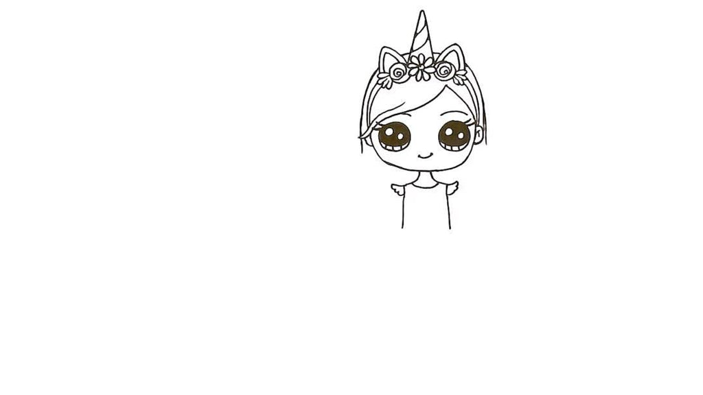 How to Draw a Unicorn Girl 23