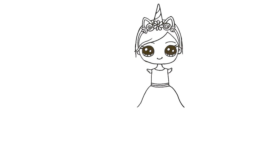 How to Draw a Unicorn Girl 24