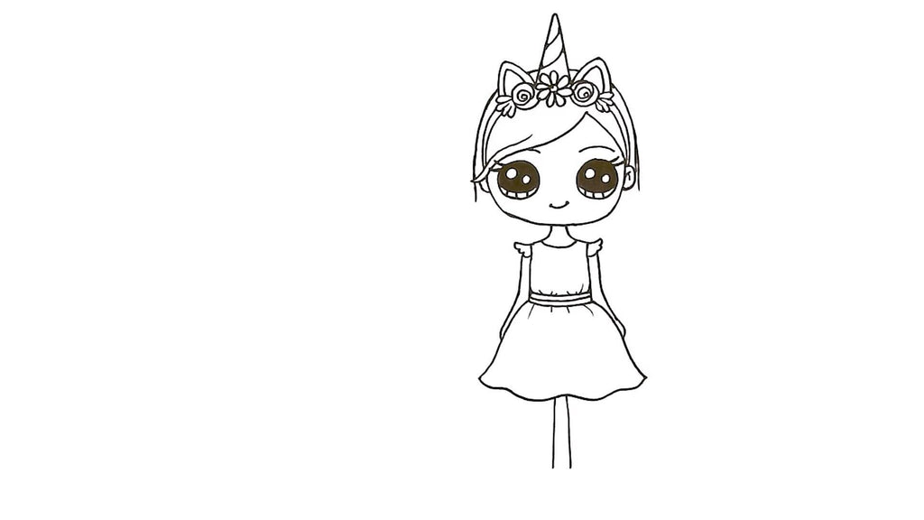 How to Draw a Unicorn Girl 27