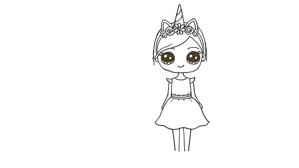How to Draw a Unicorn Girl 28