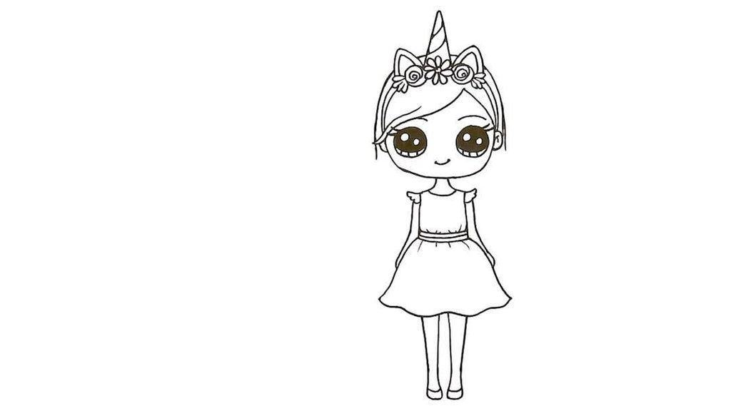 How to Draw a Unicorn Girl 30