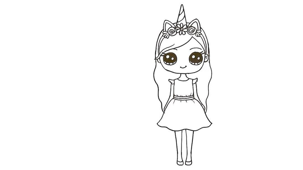 How to Draw a Unicorn Girl 31
