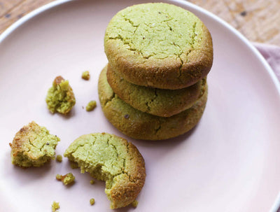 ALMOND MATCHA COOKIES