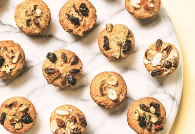 NATURALLY DELICIOUS SNACKS & TREATS- MINI VEGAN MUFFINS