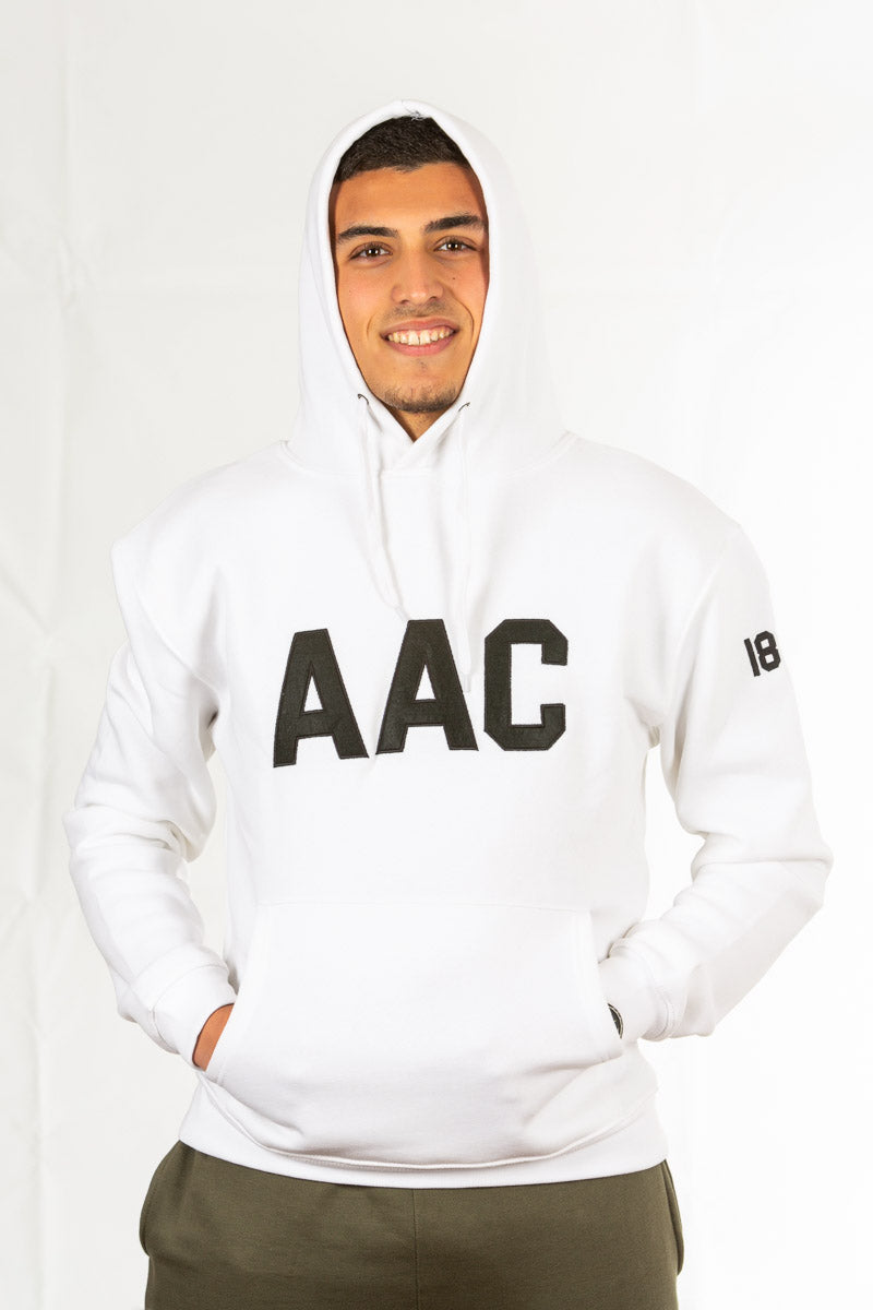 SWEAT BRANCA AAC 1887 COM CAPUZ