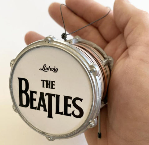 "Beatles Fab Four Ringo Starr Drum Ornament 2.5"" Hanging Ornament"
