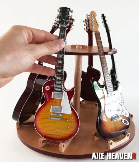 Miniature Multi-Guitar Display Stand – Holds 6 Mini Guitars
