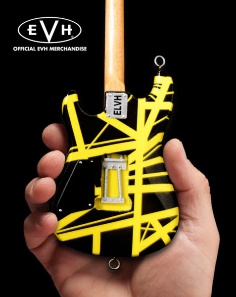 "EVH Black & Yellow VH2 ""Bumblebee"" Eddie Van Halen Mini Guitar Replica Collectible"
