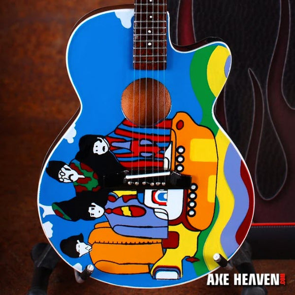 "Fab Four ""Yellow Submarine"" Miniature Acoustic Guitar Replica Collectible"