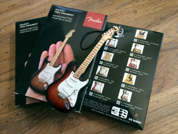 FENDER Gold Stratocaster Guitar Ornament - 6""