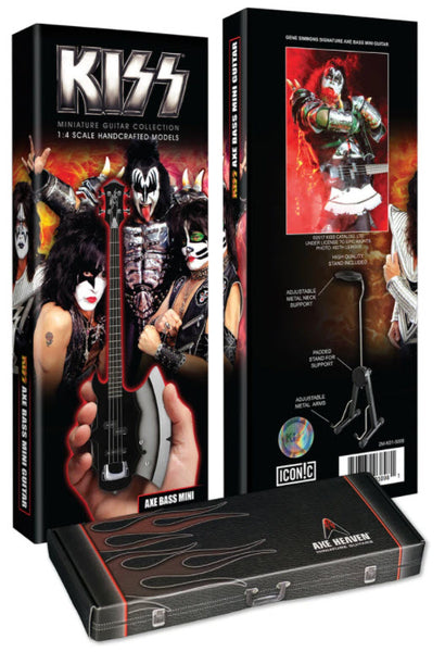 KISS® Gene Simmons Signature AXE Bass Mini Guitar Model