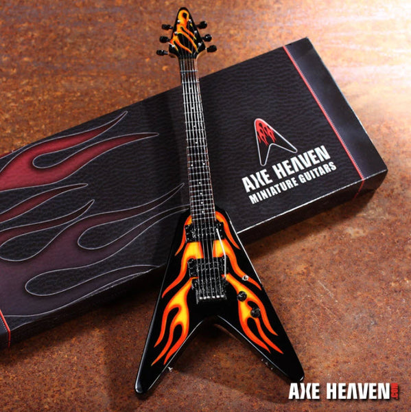 James Hetfield Hot Rod Flames V Miniature Guitar Replica Collectible