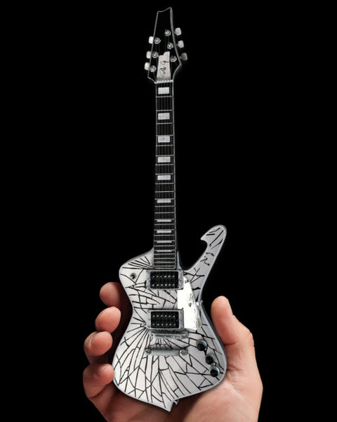KISS® Paul Stanley Cracked Mirror Iceman Miniature Guitar Model