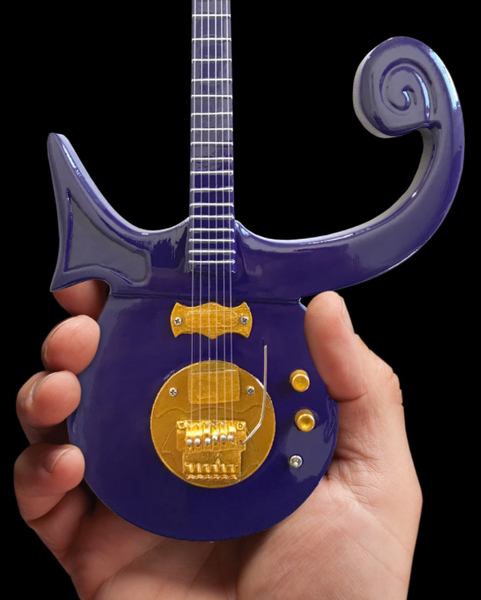 Prince Signature Purple Symbol Miniature Guitar Replica Collectible