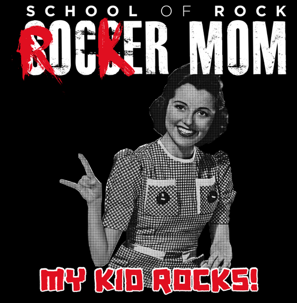 LADIES ROCKER MOM CREWNECK T-SHIRT